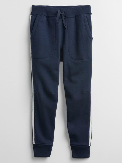 Erkek Çocuk Mavi Yan Çizgili Pull On Pantolon