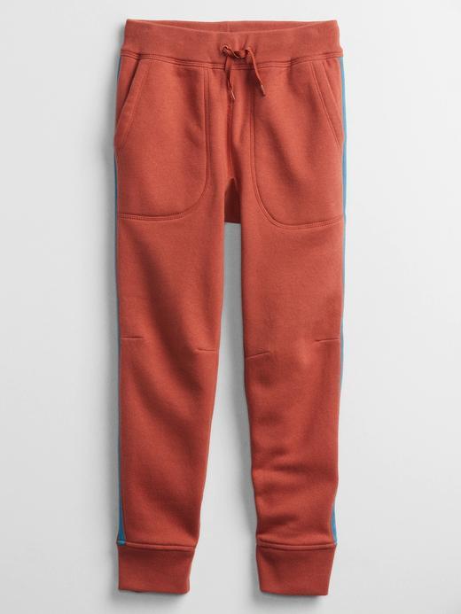 Erkek Çocuk Turuncu Yan Çizgili Pull On Pantolon