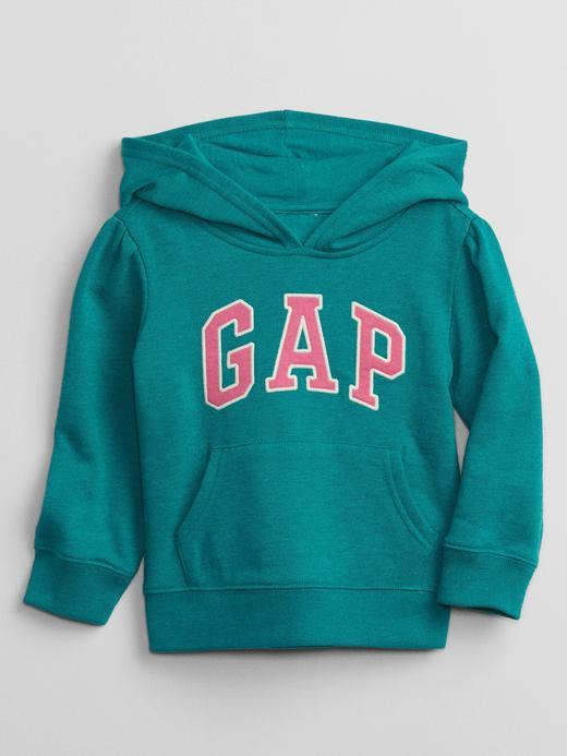 Kız Bebek Yeşil Gap Logo Kapüşonlu Sweatshirt