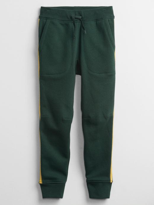 Erkek Çocuk Yeşil Yan Çizgili Pull On Pantolon