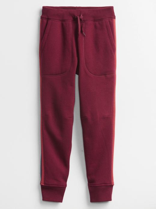 Erkek Çocuk Kırmızı Yan Çizgili Pull On Pantolon