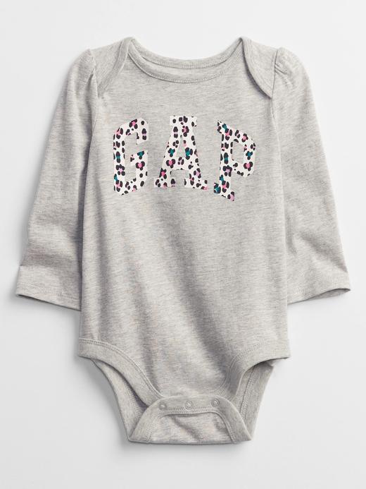 Kız Bebek gri Gap Logo Bodysuit