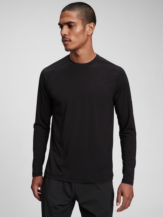 Erkek Siyah GapFit Geri Dönüştürülmüş Active T-Shirt