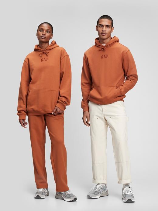 Erkek Turuncu Gap Logo Kapüşonlu Sweatshirt