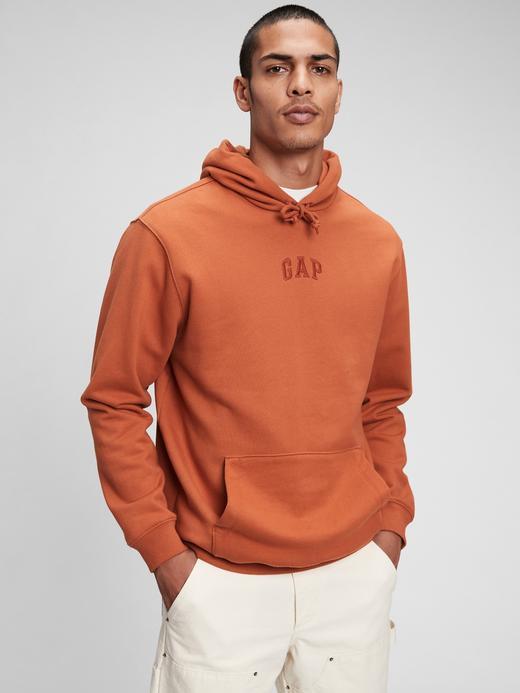 Erkek Yeşil Gap Logo Kapüşonlu Sweatshirt