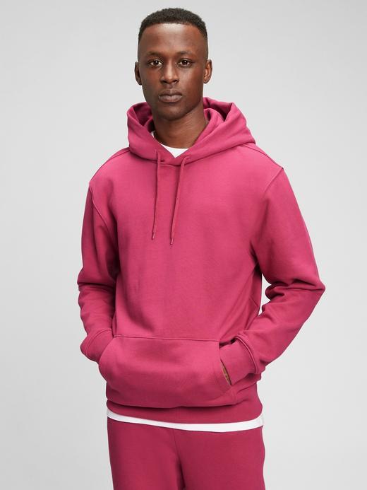 Erkek Pembe Gap Logo Kapüşonlu Sweatshirt
