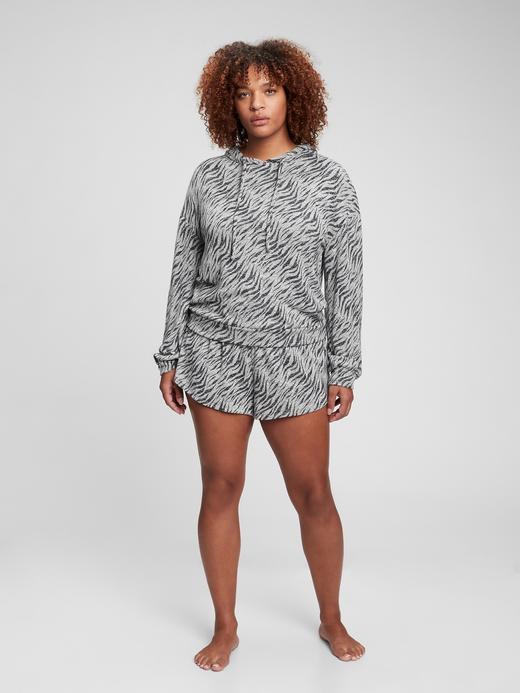 Kadın Gri Softspun Kapüşonlu Sweatshirt