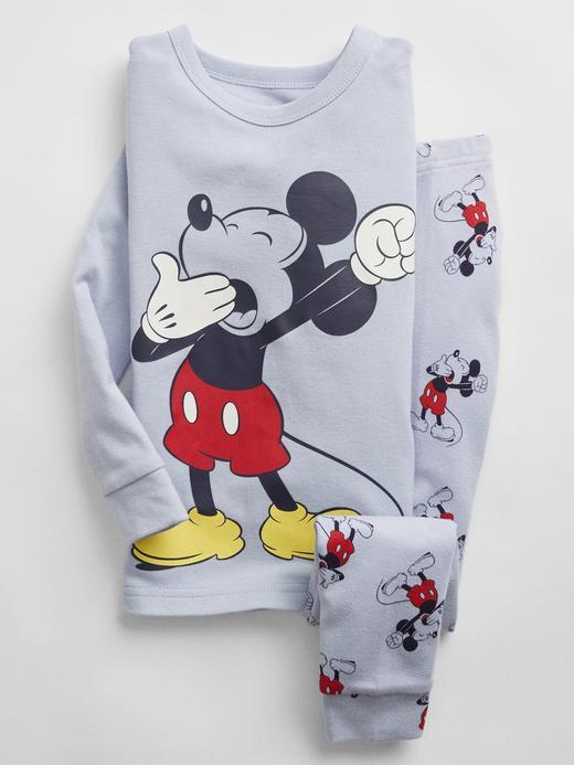 Kız Bebek Mavi Disney Mickey Mouse Pijama Takımı