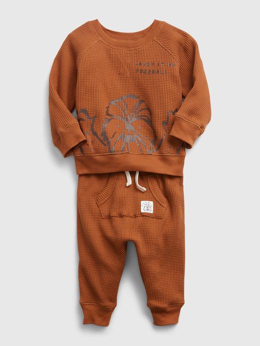 Erkek Bebek Bej Star Wars™ Waffle Örme Takım
