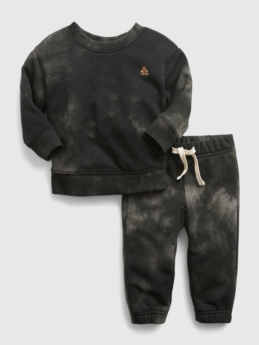 Erkek Bebek Siyah Tie-Dye Takım