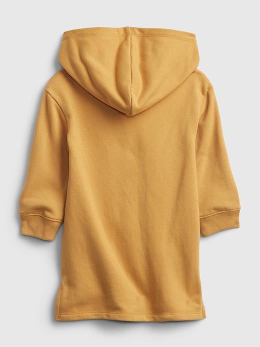 Kız Bebek Sarı Grafik Desenli Sweatshirt Elbise