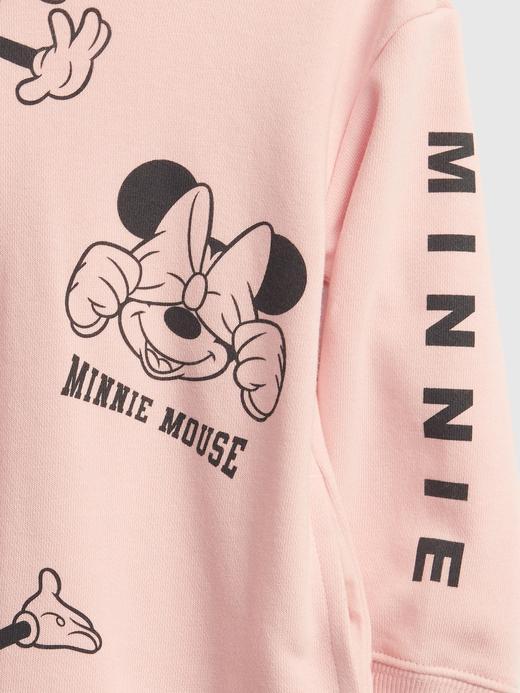 Kız Bebek Pembe Disney Minnie Mouse Sweatshirt Elbise