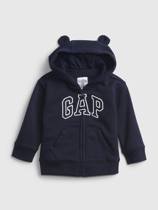 Erkek Bebek Lacivert Gap Logo Kapüşonlu Sweatshirt