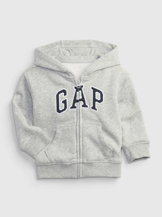Erkek Bebek Gri Gap Logo Kapüşonlu Sweatshirt