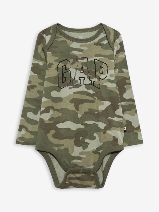 Erkek Bebek Yeşil Gap Logo Bodysuit