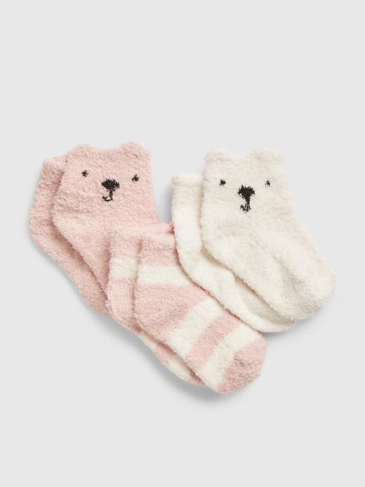 Erkek Bebek Pembe 3'lü First Favorite Cozy Çorap Seti