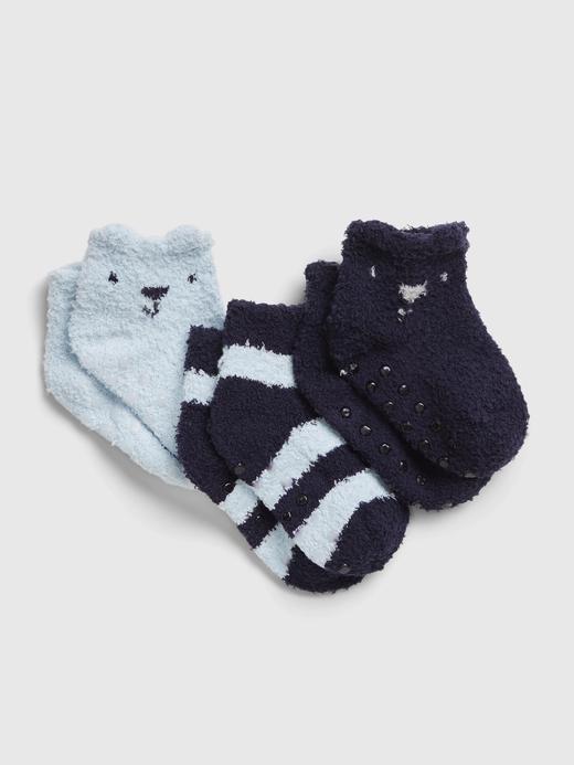 Erkek Bebek Lacivert 3'lü First Favorite Cozy Çorap Seti