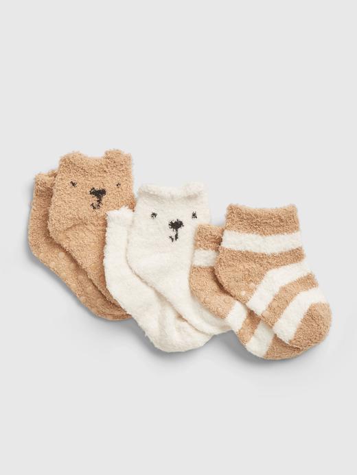 Erkek Bebek Bej 3'lü First Favorite Cozy Çorap Seti
