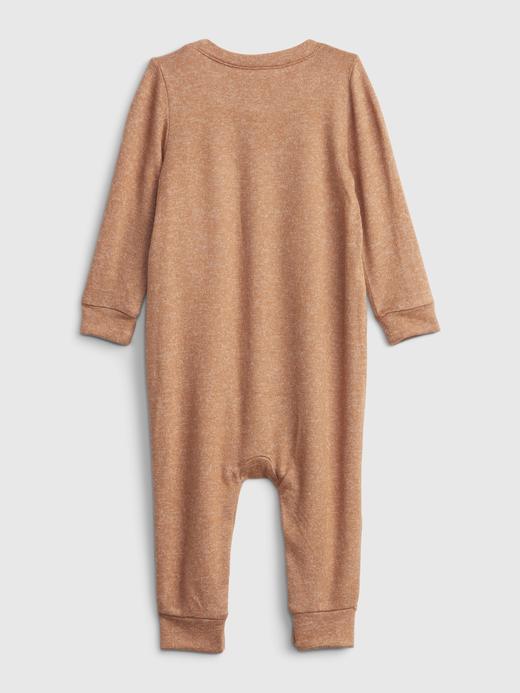 Erkek Bebek Kahverengi Softspun Brannan Bear Tulum