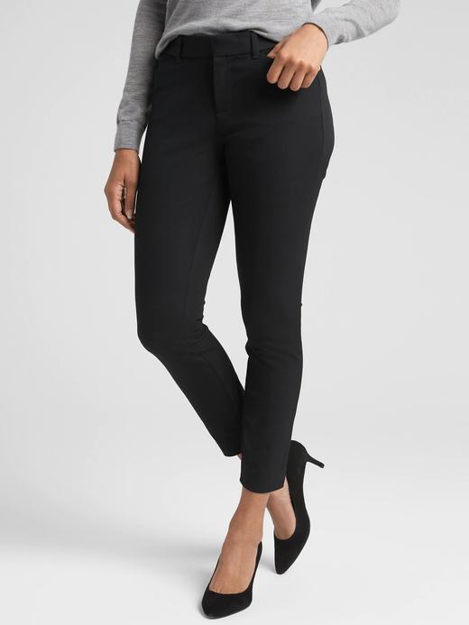 Kadın Siyah Bilek Hizasında Streç Skinny Pantolon