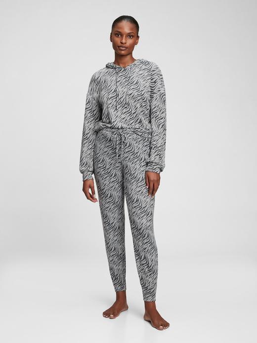 Kadın Beyaz Yumuşak Dokulu Pijama Altı