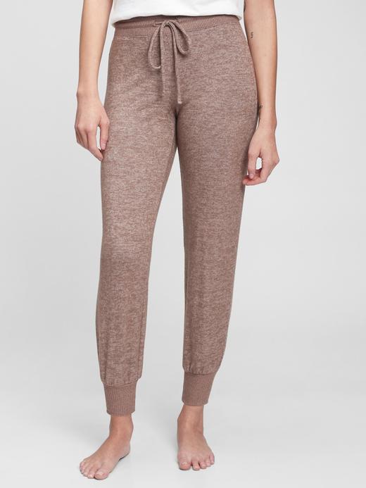 Kadın Kahverengi Yumuşak Dokulu Pijama Altı