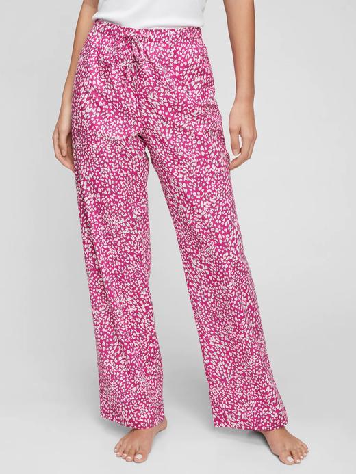 Kadın Pembe Desenli Pijama Altı