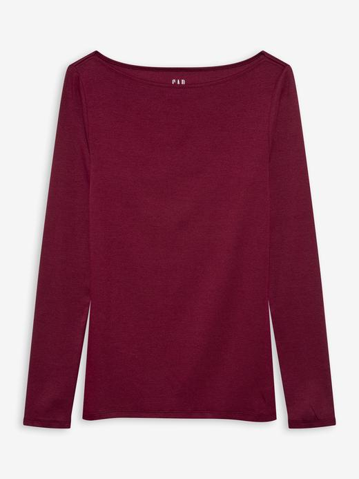 Kadın Kırmızı Modern Yuvarlak Yaka T-Shirt