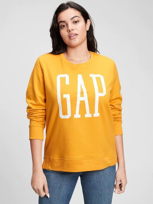 Kadın Sarı Gap Logo Yuvarlak Yaka Sweatshirt