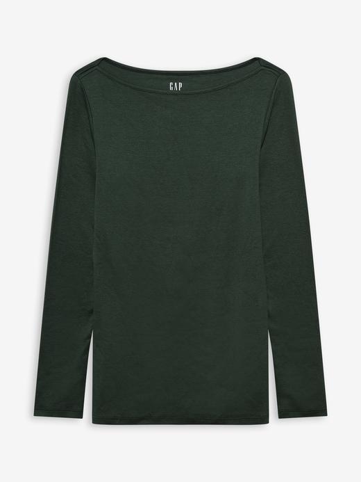 Kadın Yeşil Modern Yuvarlak Yaka T-Shirt
