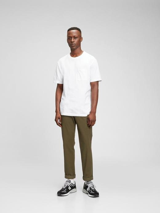 Erkek Yeşil GapFlex Slim Khaki Pantolon