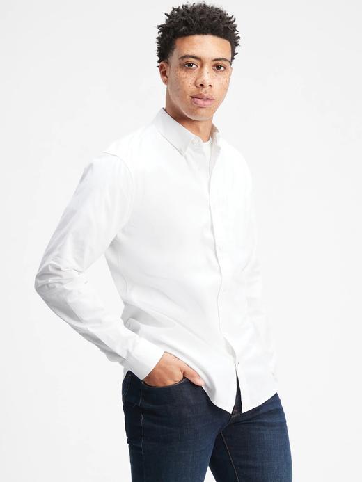 Erkek Beyaz Poplin Slim Fit Gömlek