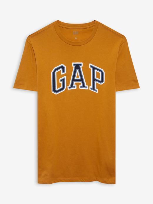 Erkek Turuncu Gap Logo Kısa Kollu T-Shirt