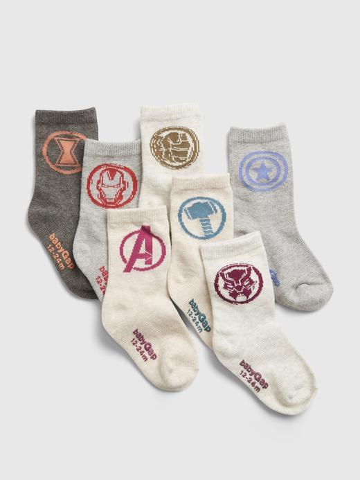 Bebek Çok Renkli 7'li Marvel Avengers Çorap Seti