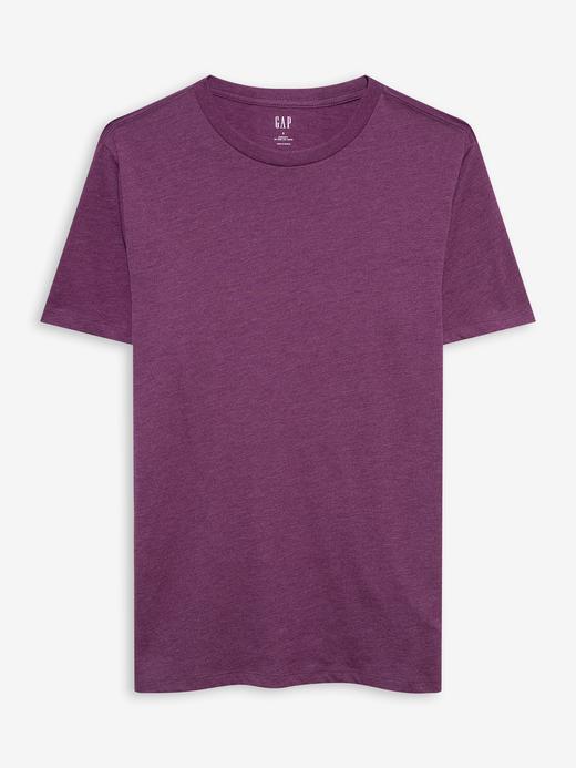 Erkek Mor Yuvarlak Yaka T-shirt