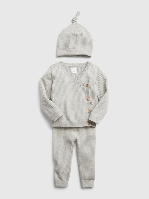 Erkek Bebek Lacivert Fitilli Kazak Takımı