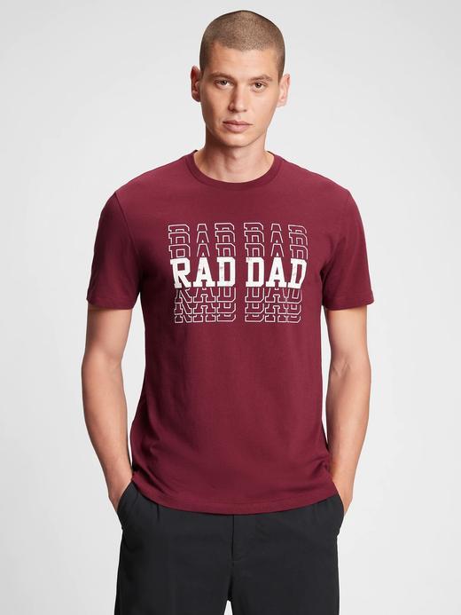 Erkek Kırmızı Grafik Desenli T-Shirt