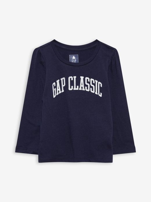 Kız Bebek Lacivert %100 Organik Pamuk Gap Logo T-Shirt