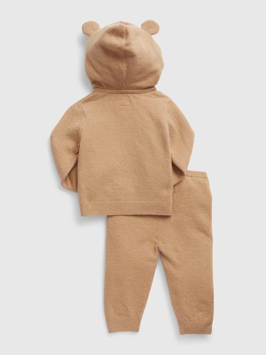 Erkek Bebek Bej Brannan Bear Sweatshirt Takımı
