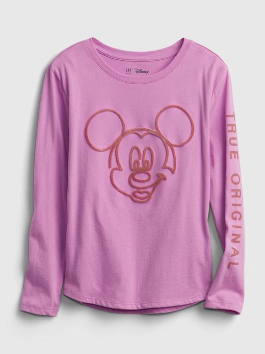 Kız Çocuk Mor %100 Organik Pamuk Disney Mickey Mouse T-Shirt