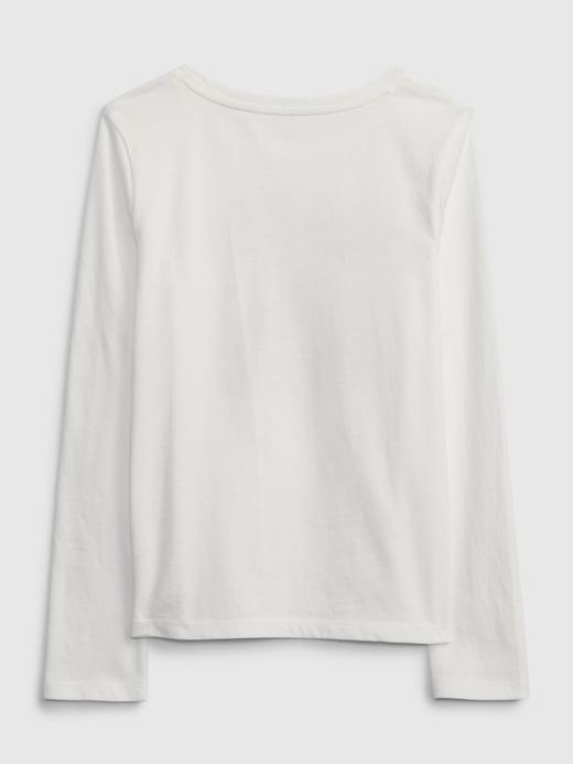 Kız Çocuk beyaz %100 Organik Pamuk Grafik Desenli T-Shirt