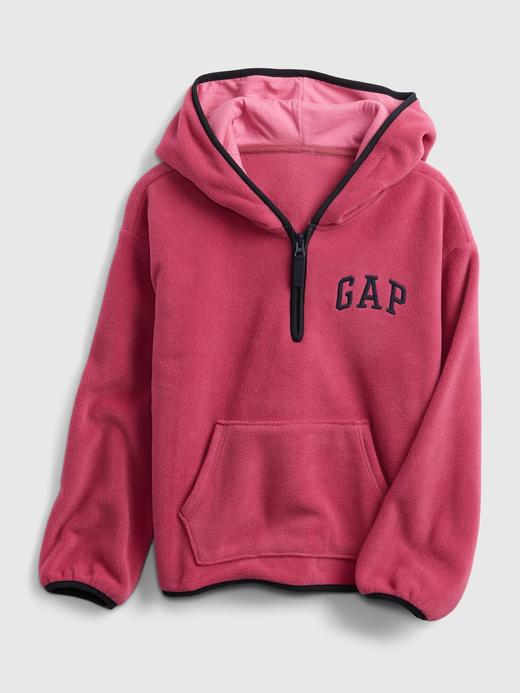 Kız Çocuk pembe Gap Logo Yarım Fermuarlı Sweatshirt