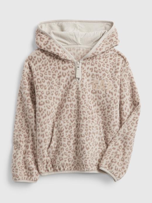 Kız Çocuk bej Gap Logo Yarım Fermuarlı Sweatshirt