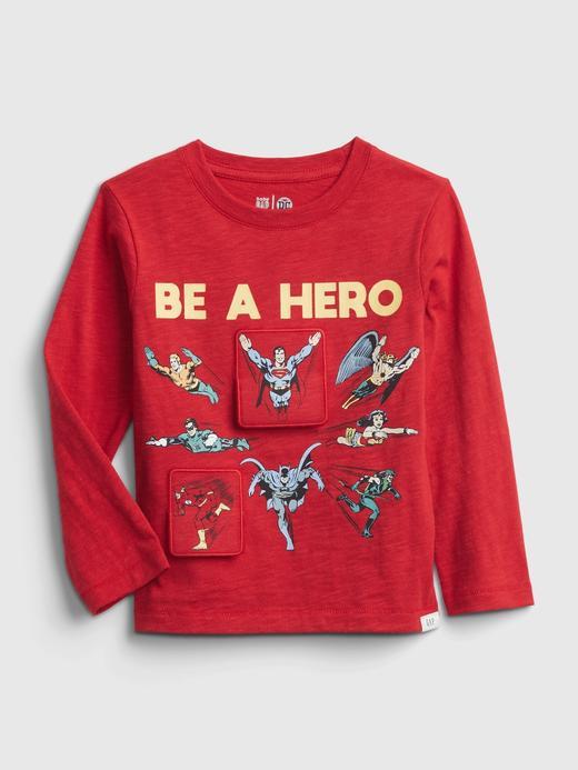 Erkek Bebek Kırmızı DC™ İnteraktif T-Shirt