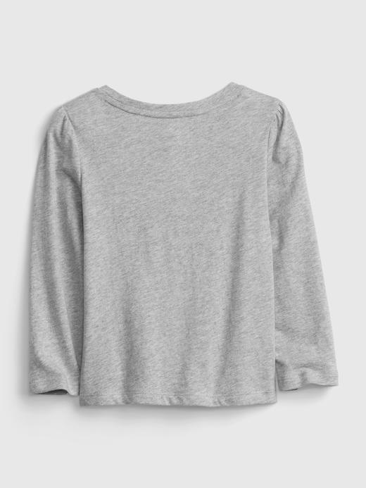 Kız Bebek Mor %100 Organik Pamuk Grafik Desenli T-Shirt