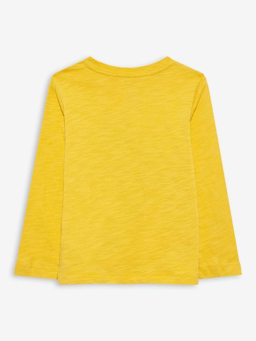 Erkek Bebek Sarı Grafik Desenli T-Shirt
