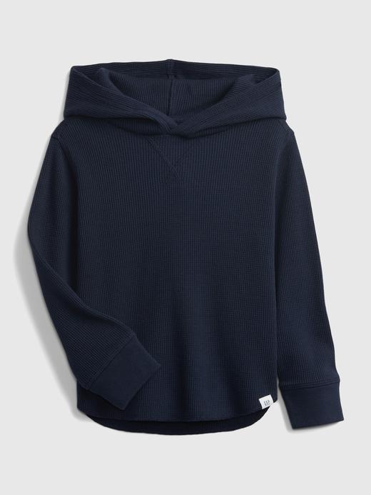 Erkek Bebek Lacivert Dokulu Kapüşonlu Sweatshirt