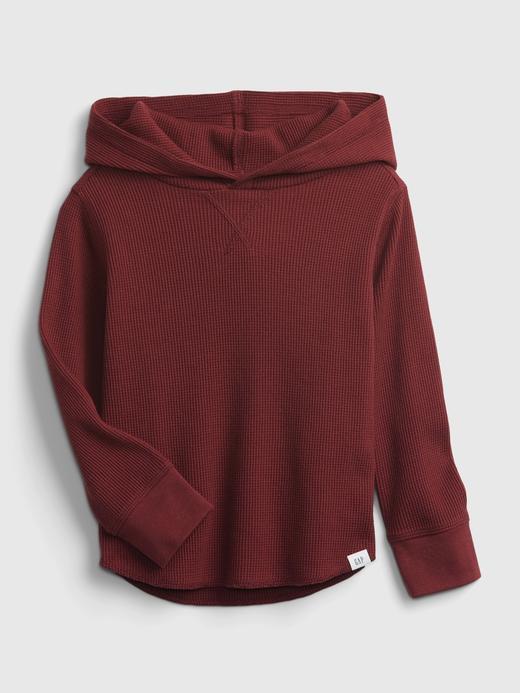 Erkek Bebek Kırmızı Dokulu Kapüşonlu Sweatshirt