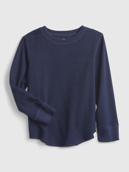 Erkek Bebek Lacivert Dokulu Uzun Kollu T-Shirt