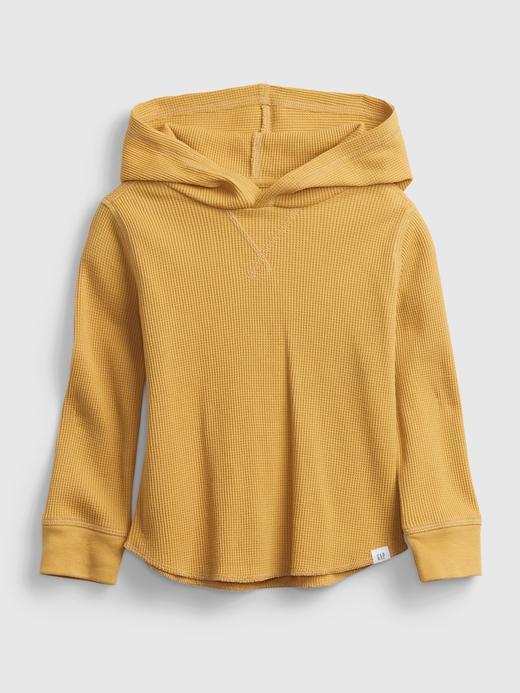 Erkek Bebek Sarı Dokulu Kapüşonlu Sweatshirt